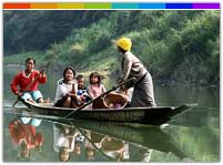 Boat Riding in River Tlawng, Mizoram